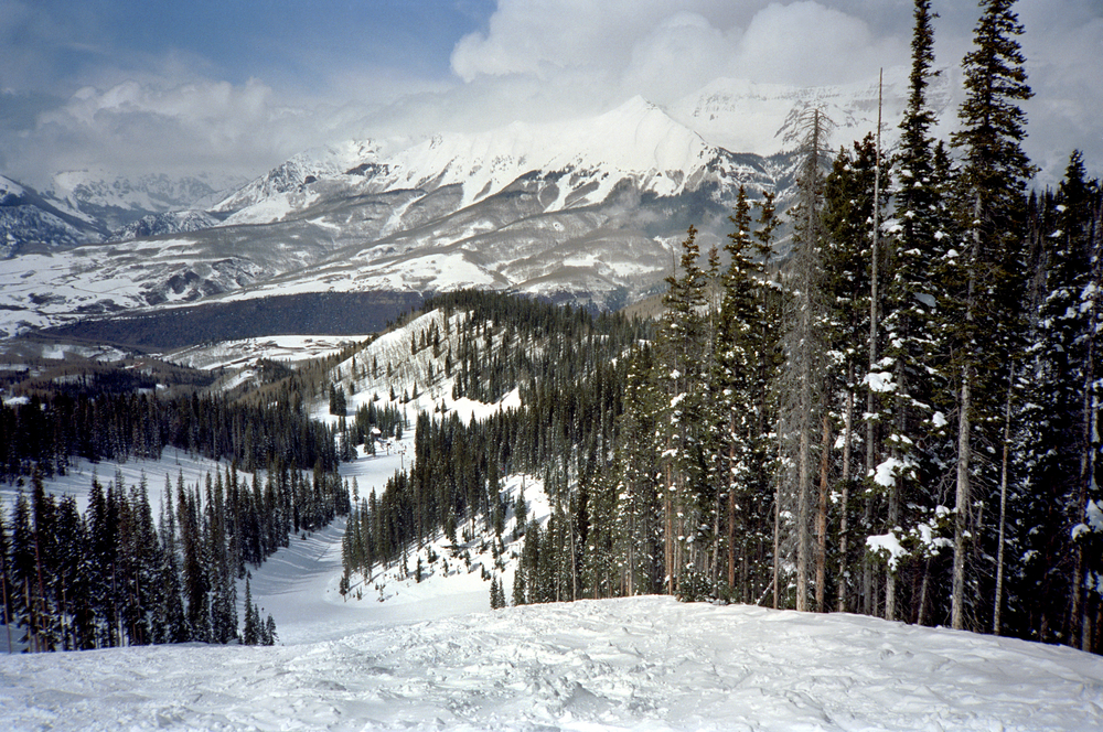 The view from Telluride Ski Resort, where you can ski the powdery slopes and take in the atmosphere!
