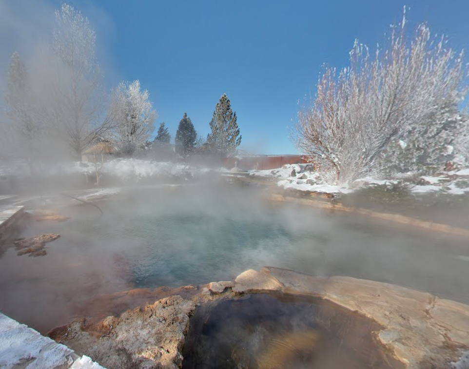 We'll take a dip in one of the area's natural hot springs after a long day of adventuring!