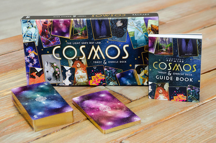 Cosmos Tarot Oracle Deck Exhibition Light Grey Art Lab