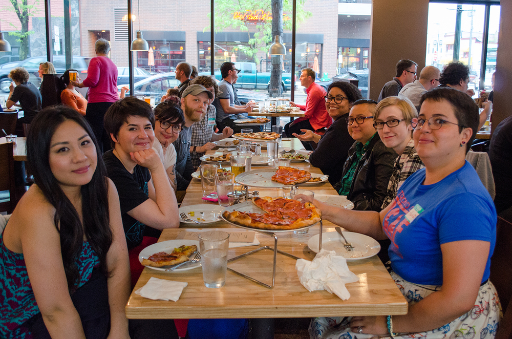 Farewell dinner at Black Sheep Pizza