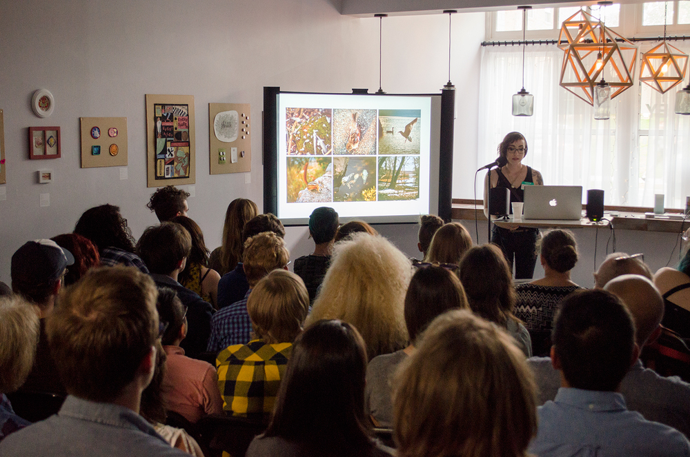 Public Artist Lecture at the opening of the PATCHES + STITCHES Exhibition