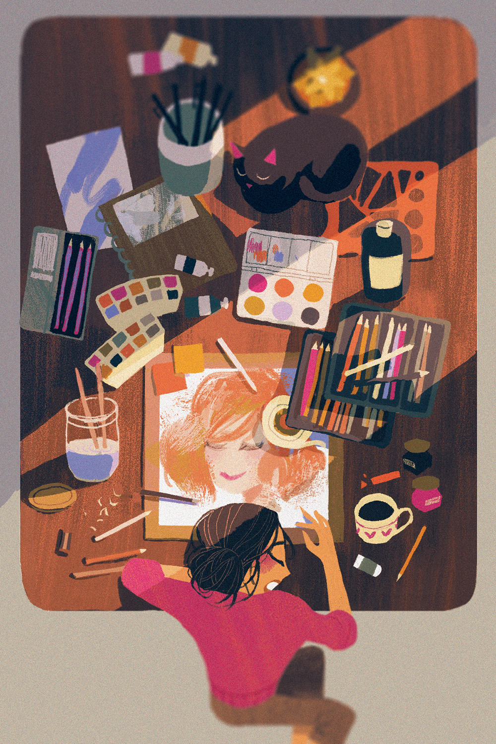"""Artist at Work"" by Katherine Tsai"