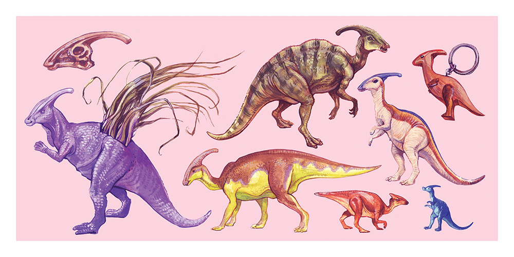 """Parasaurolophus walker"" by Mary Sanche"