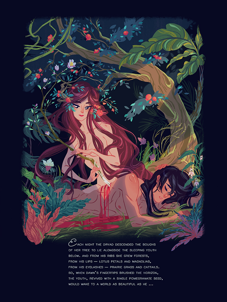 """The Dryad and the Youth"" by Liz Pulido"