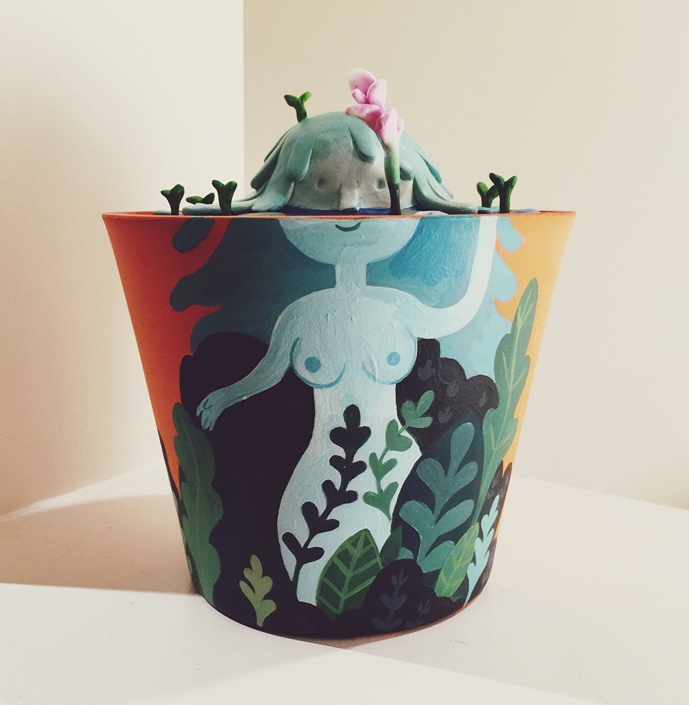 """Mother in a pot"" by Angela An"