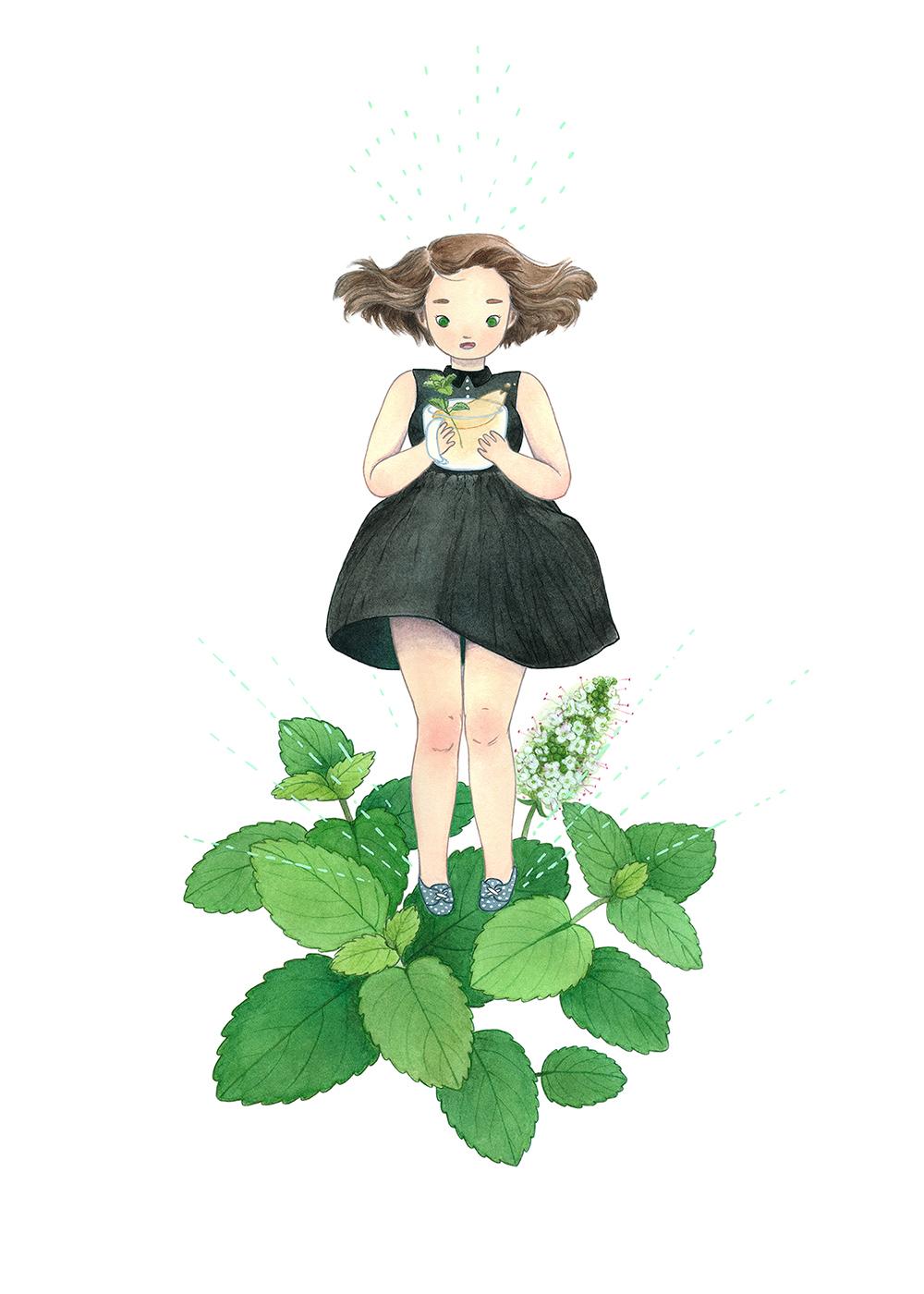 """Peppermint Tea"" by Darla Okada"