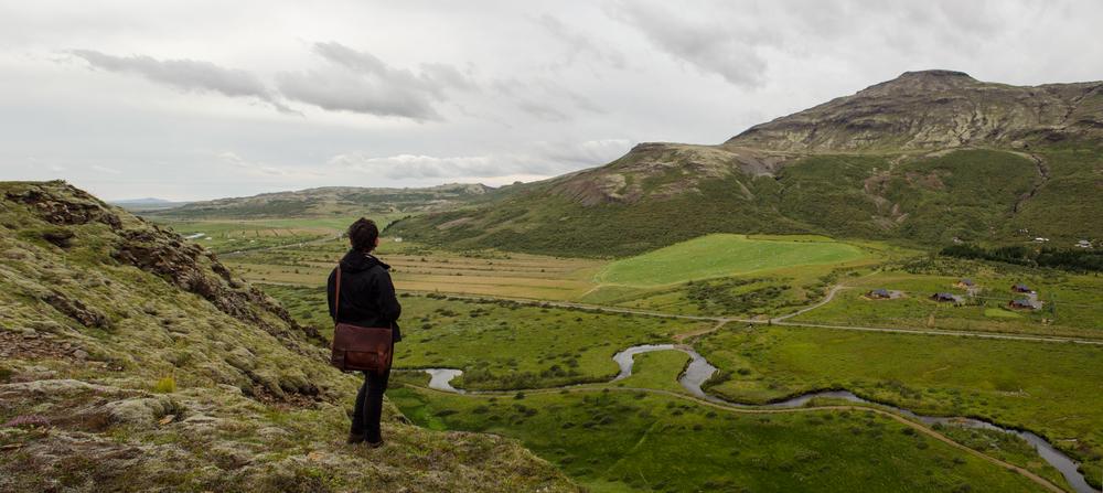 Colin Foran surveys the land - Photo by Chris Hajny