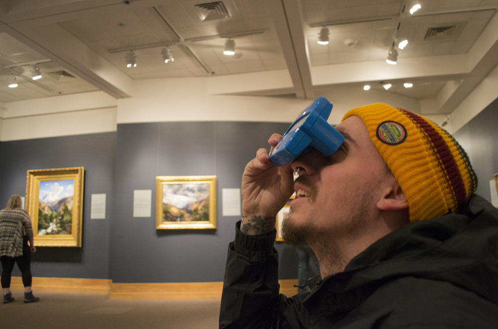 Light Grey staff, James Lavella, explores the National Museum of Wildlife Art in Grand Teton.