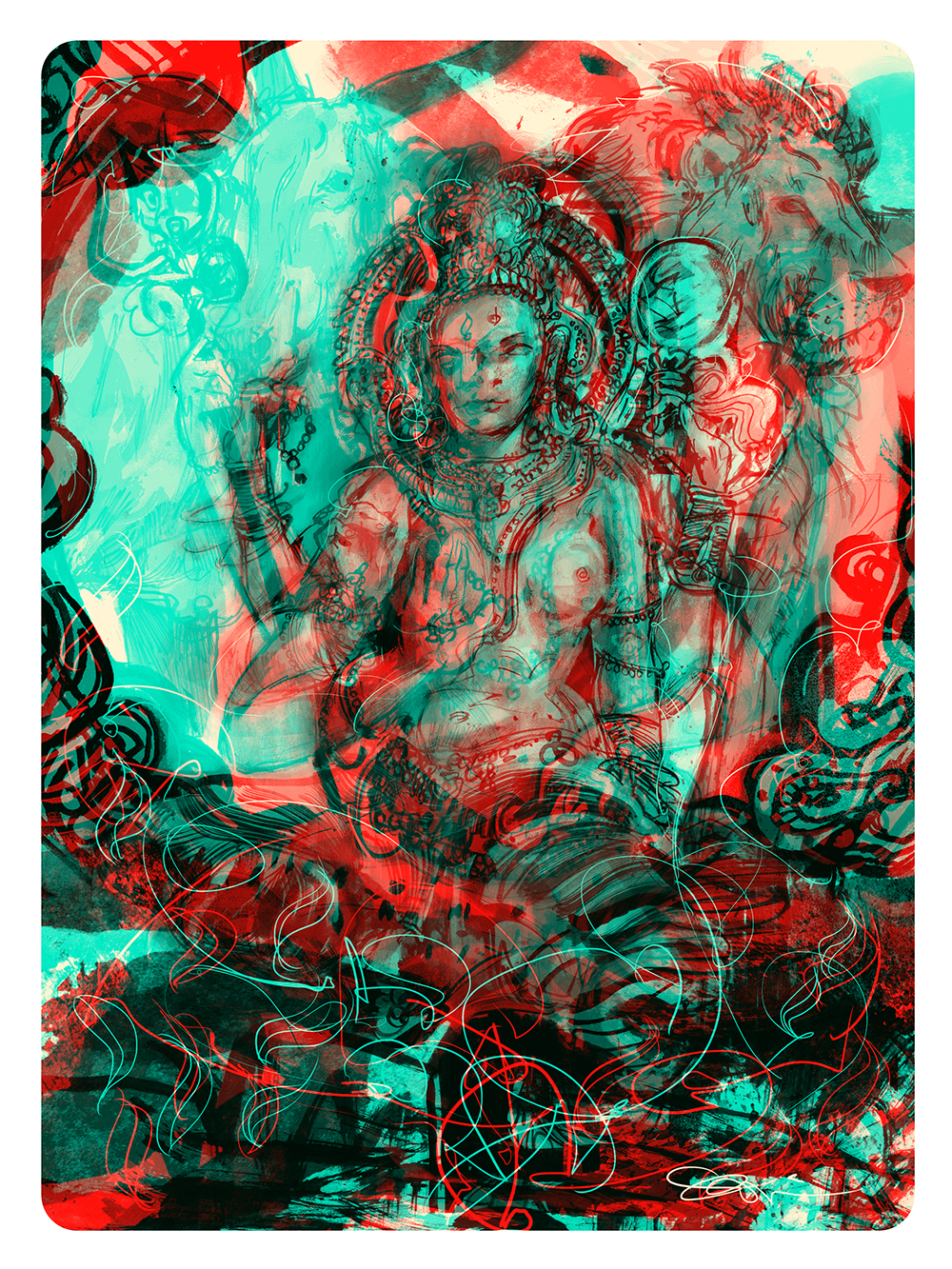 """""""Ardhanarishvara"""" by Sishir Bommakanti"""