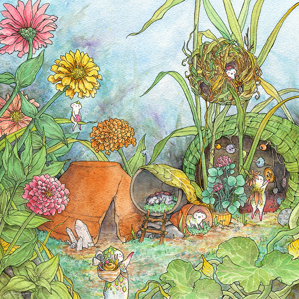 """Secret Fort in the Abandoned Garden"" by Leigh Ann Gagnon"