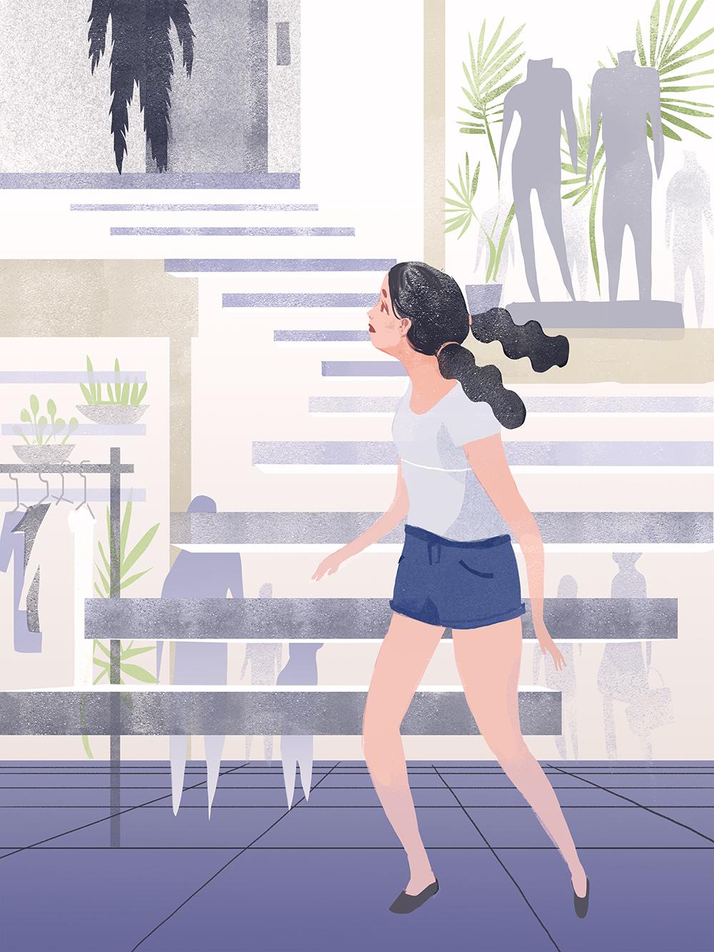 "64) ""Mall Chase"" by Nicole Xu"