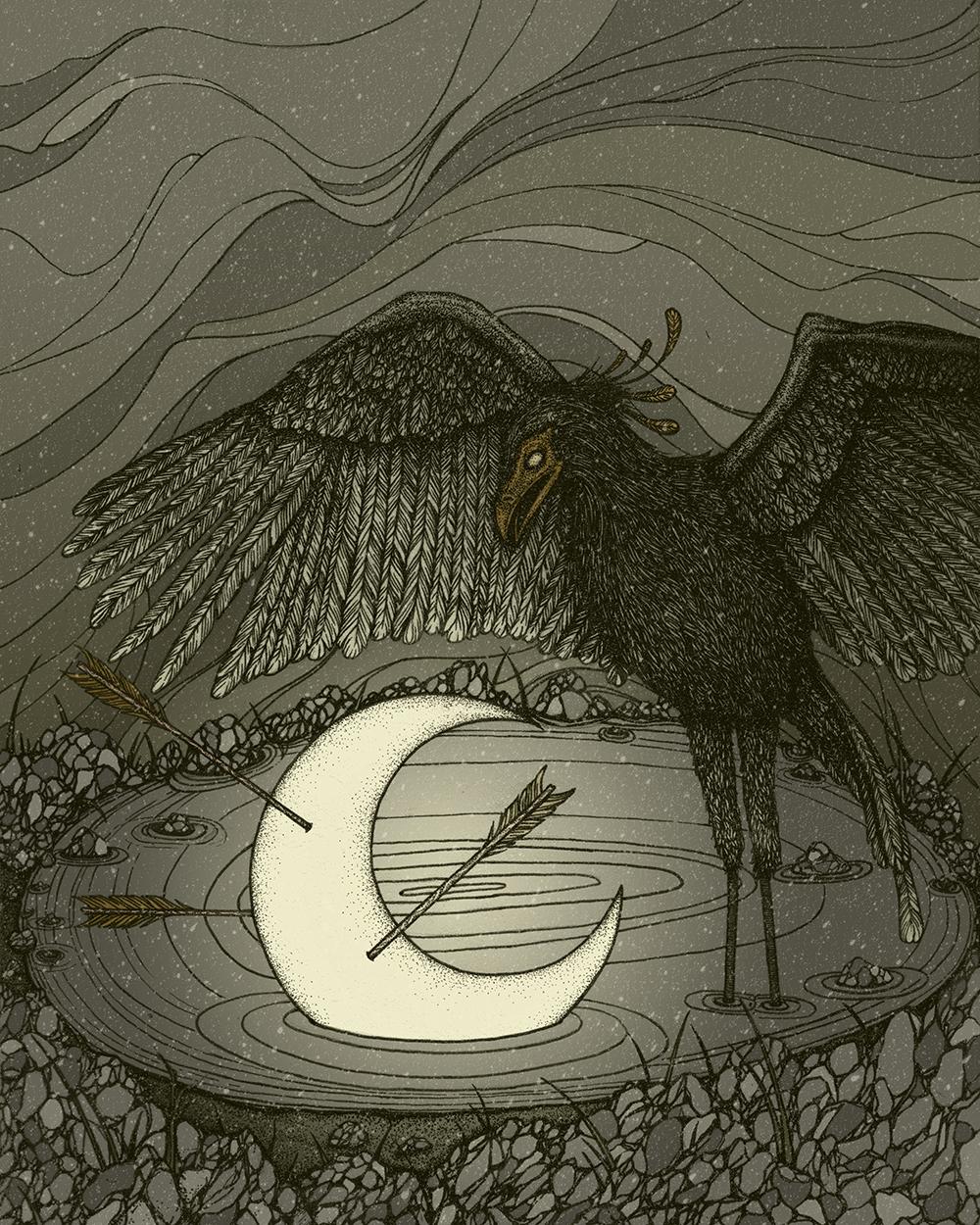 """34) """"The Dark Lake"""" by Gino Pambianchi"""