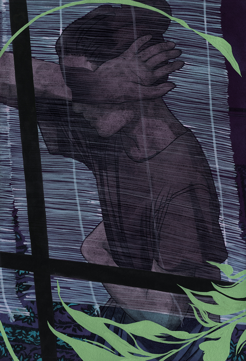 "50) ""We hide behind these curtains"" by Leonardo Santamaria"