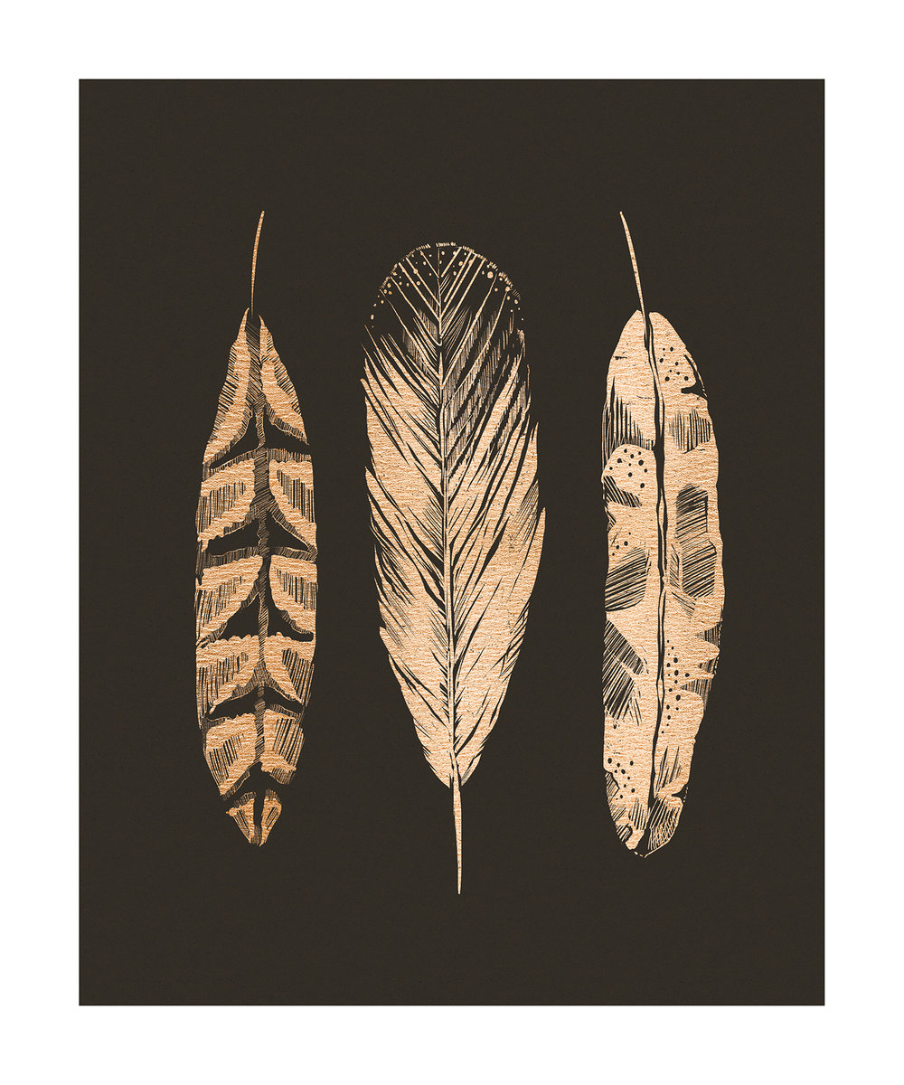 """Three Feathers"" by Jeff Langevin"