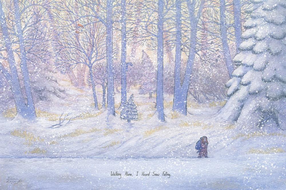 """I Heard Snow Falling"" –  Emma Lazauski"