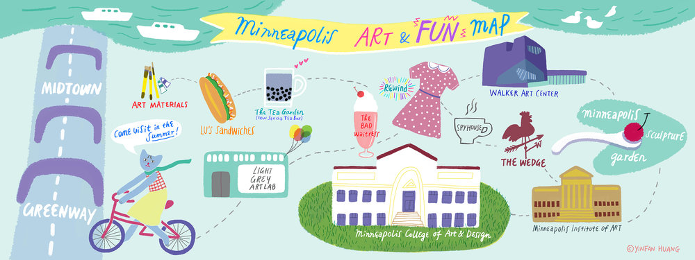 """Minneapolis Art & Fun Map"" – Yinfan Huang"