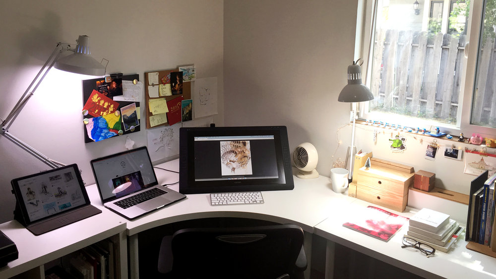 Qing's workspace