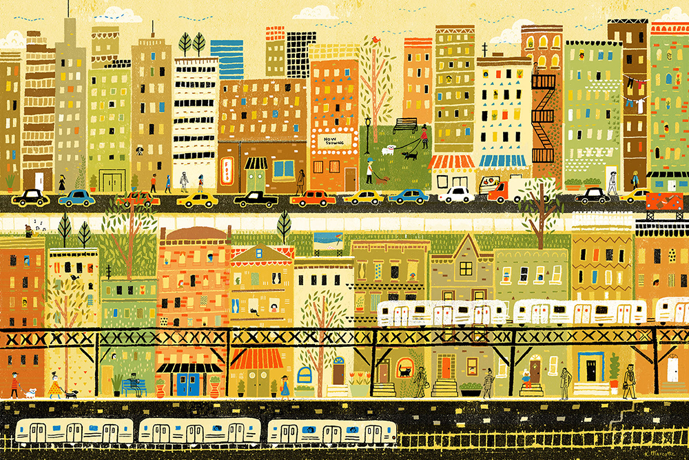 """City Streets"" by Kathleen Marcotte"