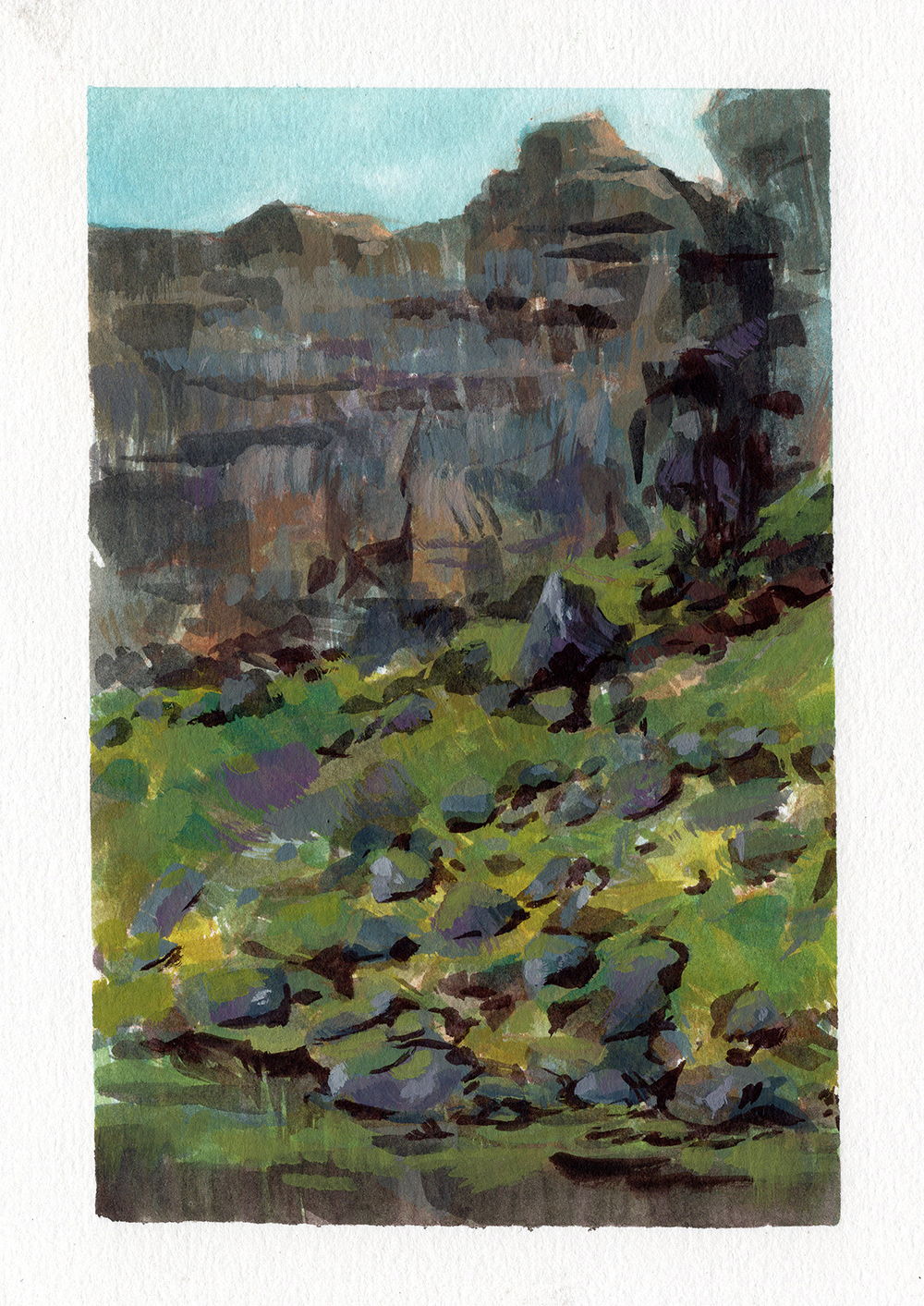 """Rocky Cliffs"" by Bill Robinson"
