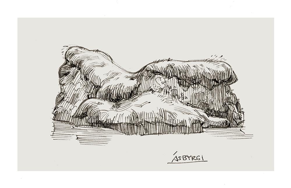"""Ásbyrgi"" by Claire Hummel"