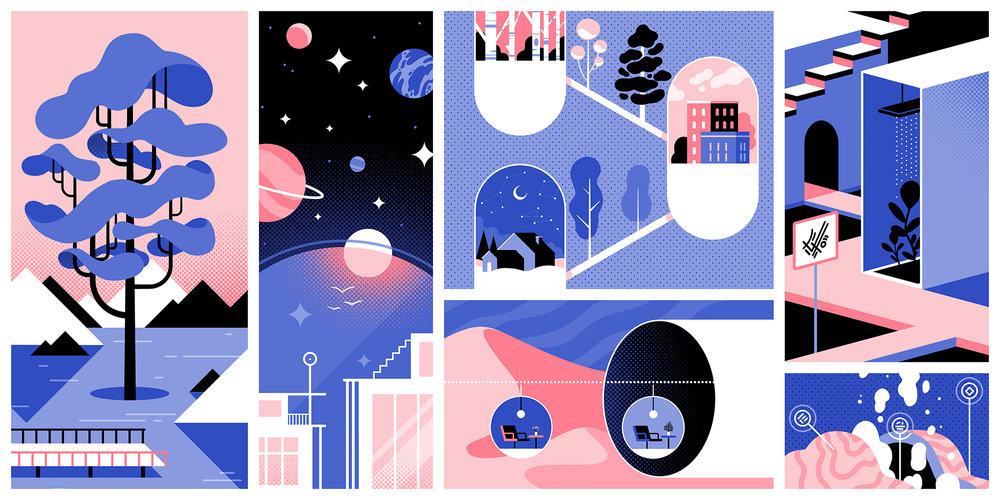 """Retrofuturist Landscape"" by Lilian Crooks"