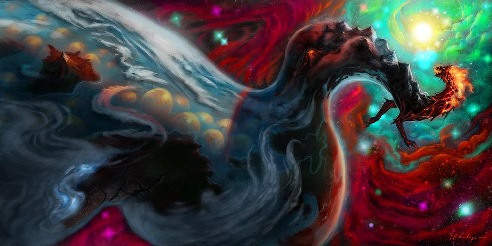 """Dragon of Mother Terra"" by Piya Wannachaiwong"