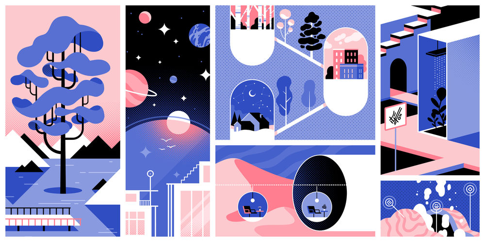 Retrofuturist Landscape   by Lilian Crooks, created for PARALLEL