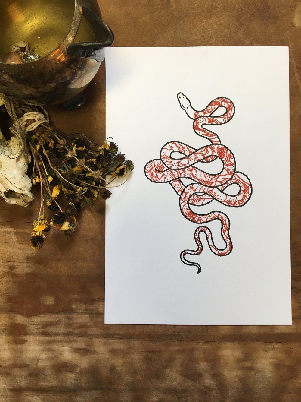 SnakeandPeonies.JPG