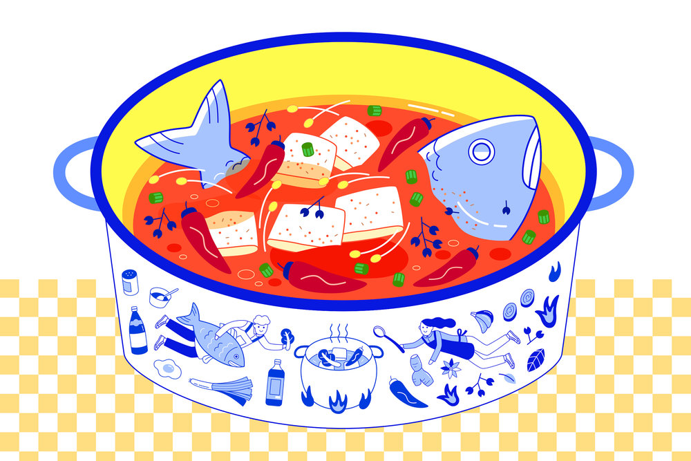 """Hot Pot Fish"""