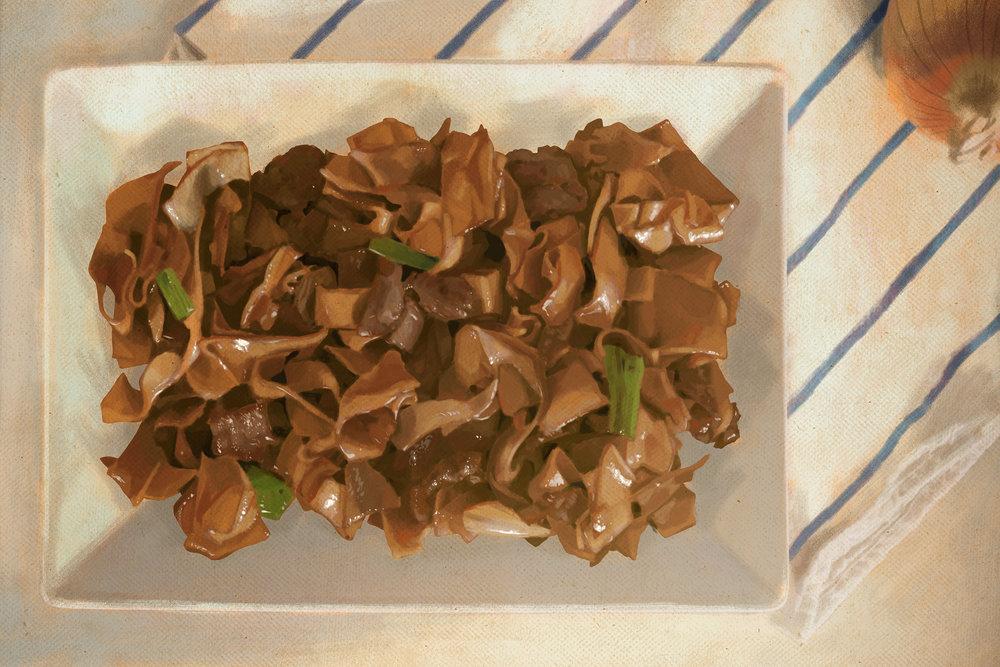 """Beef Flat Noodles (干炒牛河)"""