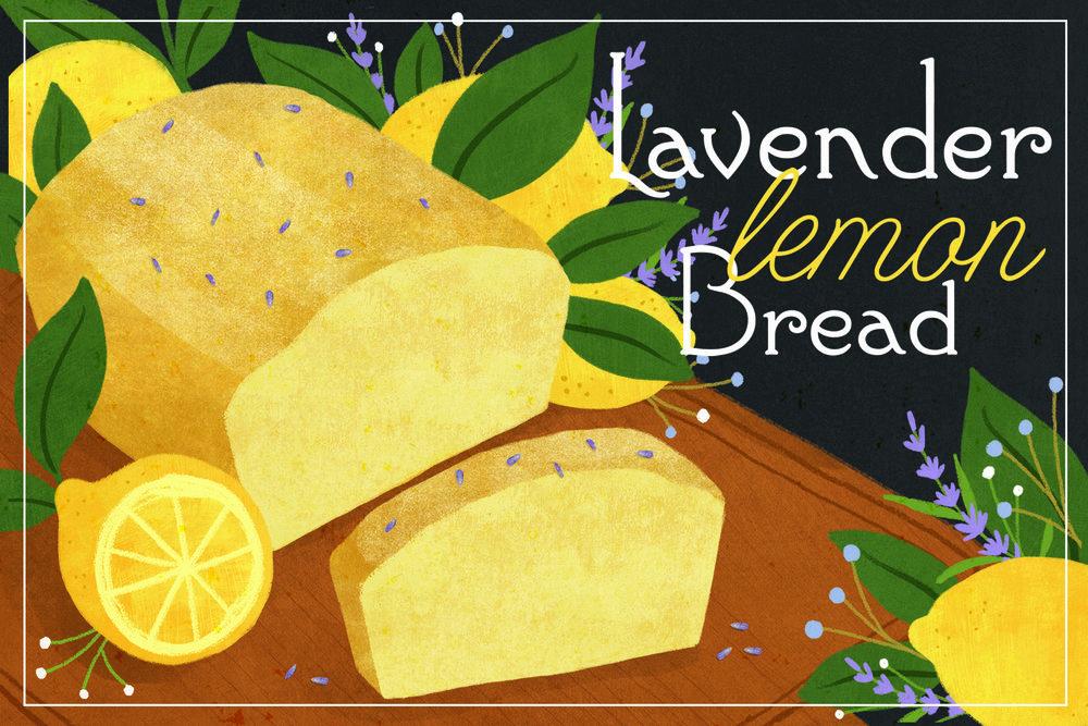 """Lavender Lemon Bread"""
