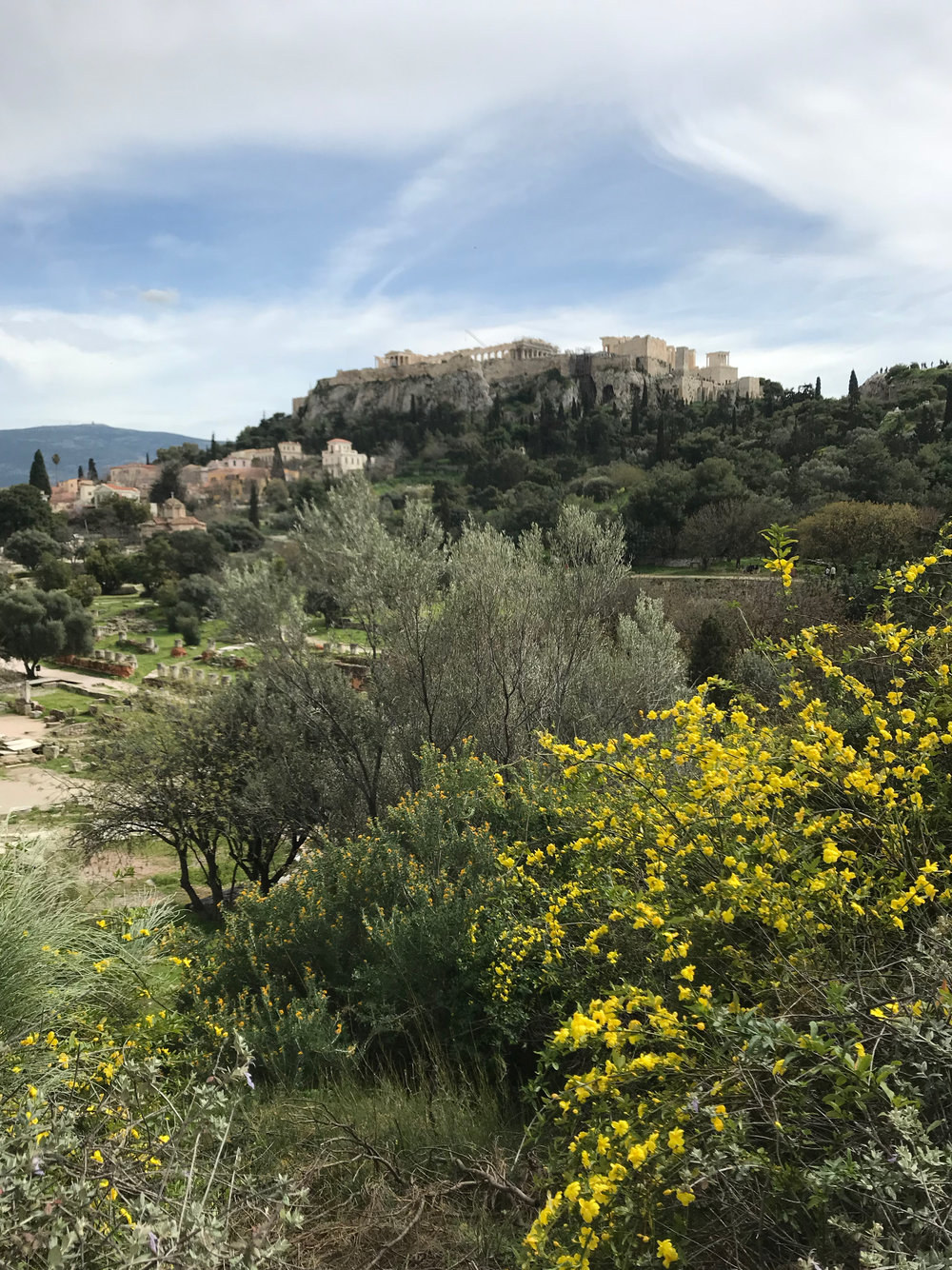 A view of the Acropolis from the Ancient Agora site