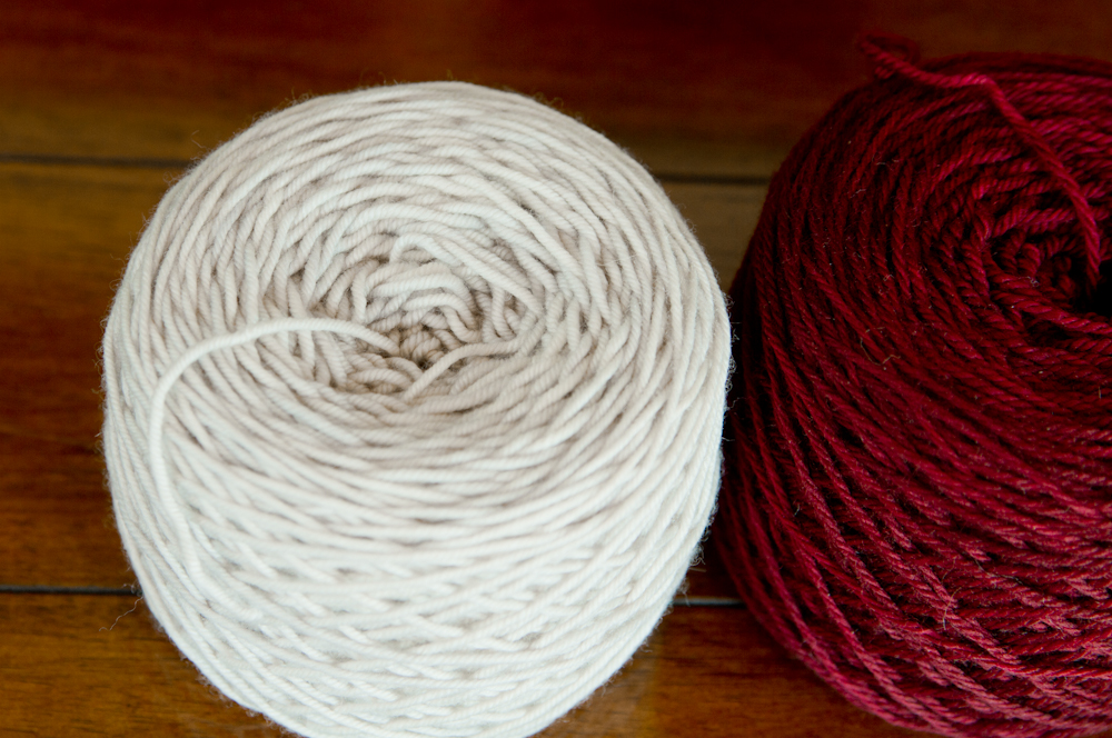 "Plucky Primo Sport ""Wintry Mix"" and Luna Grey Orion ""Cranberry"""