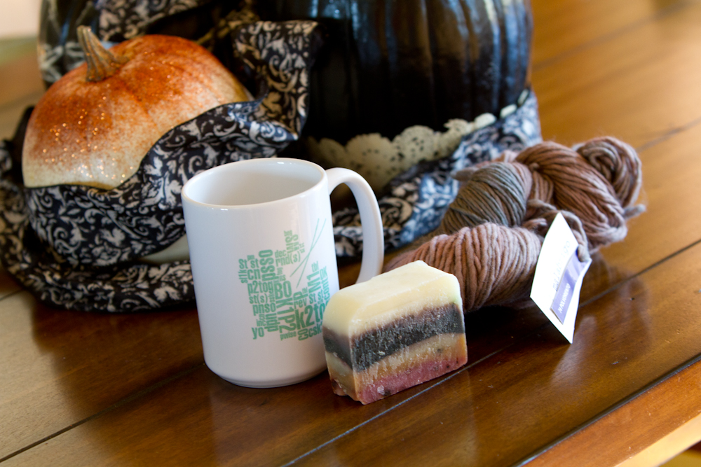 prizes for the Brew City Knits KAL