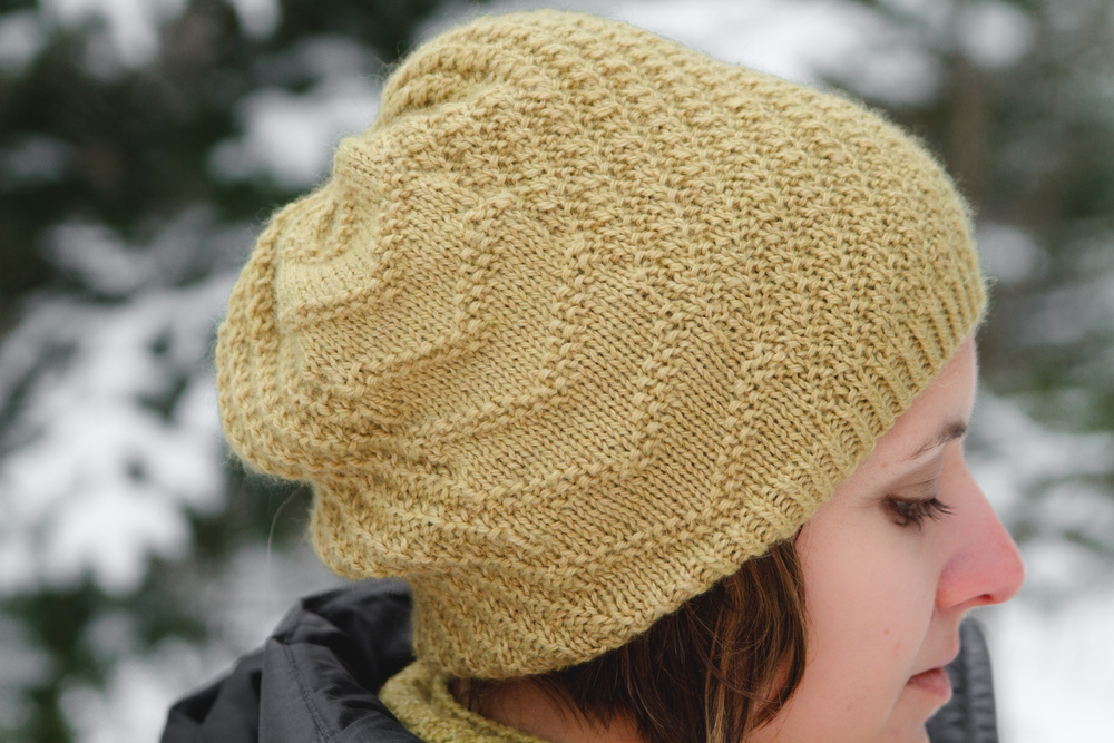 Calm Frenzy Hat, in Road to China Light, Citrine colorway
