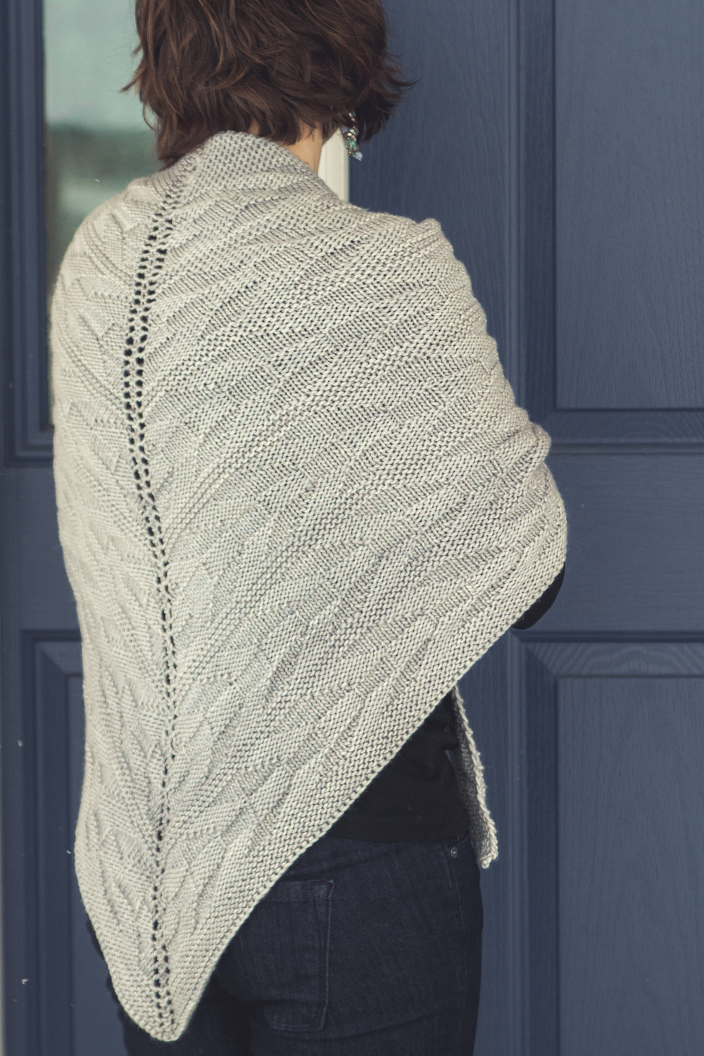 Onward shawl in Madelinetosh Tosh Merino, Astrid Grey