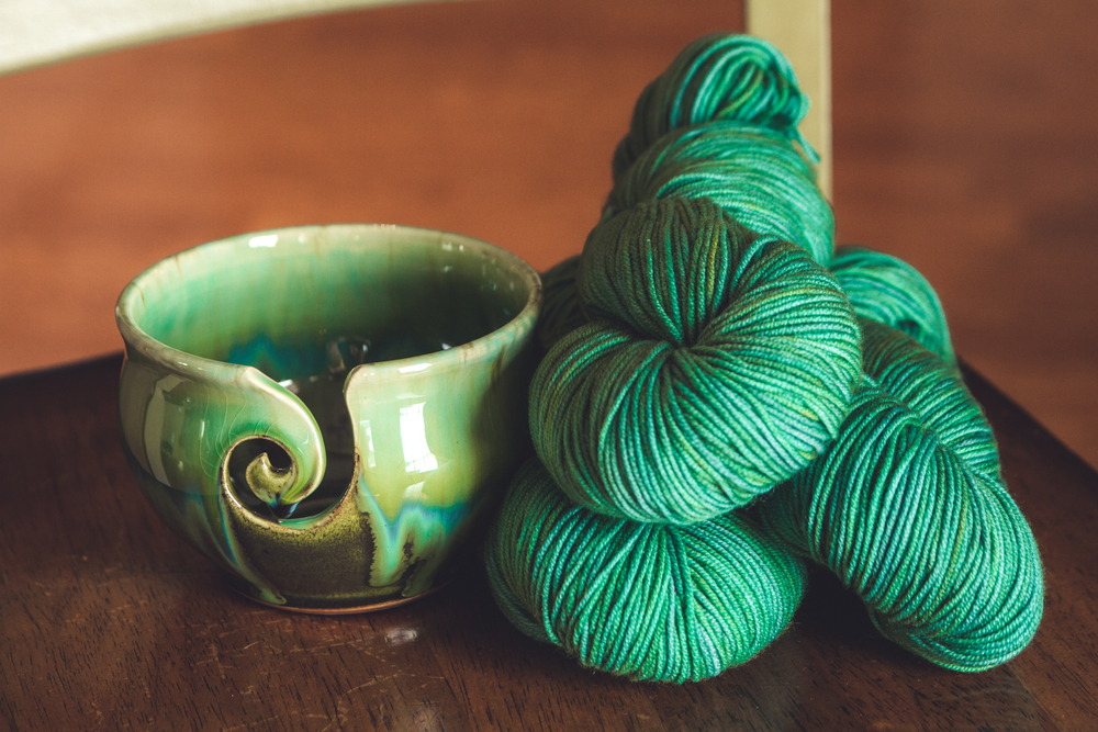 This fresh, amazing yarn from Luna Grey Fiber Arts will be featured in a fun new Spring design!