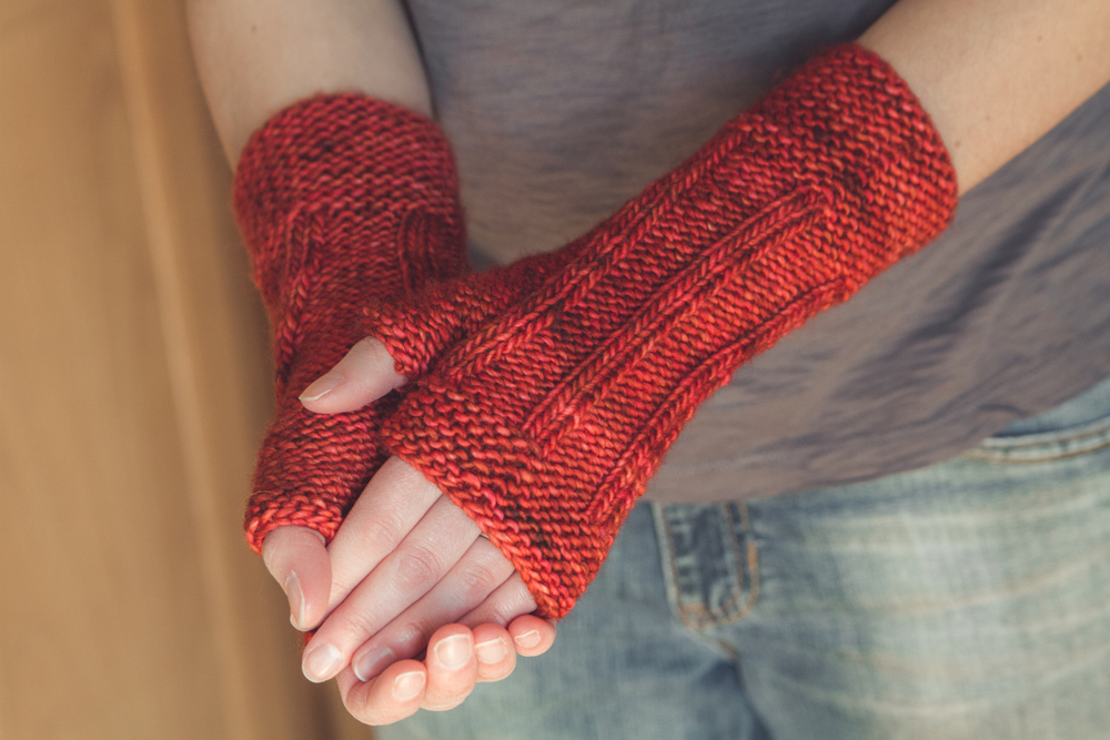 Borough, in Madelinetosh Tosh Merino, Robin Red Breast colorway