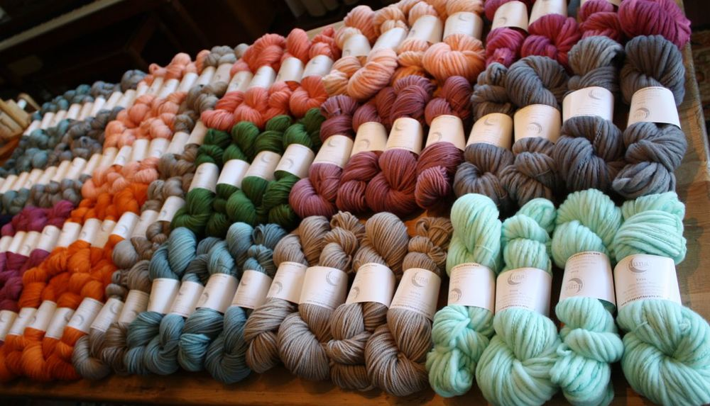 Look at all that beautiful yarn displayed so beautifully! (photo courtesy of Luna Grey)