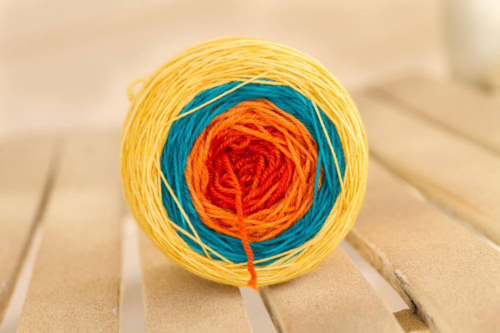 """""""parrot"""" gradient sock yarn-prize winner """"projectstashEL"""""""