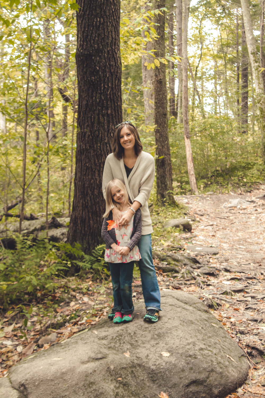 Happy 7th Birthday, Addison! Hiking in the Smokey Mountains to celebrate.