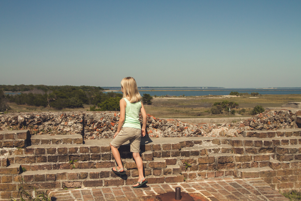 At an old confederate fort, Fort Pulaski.