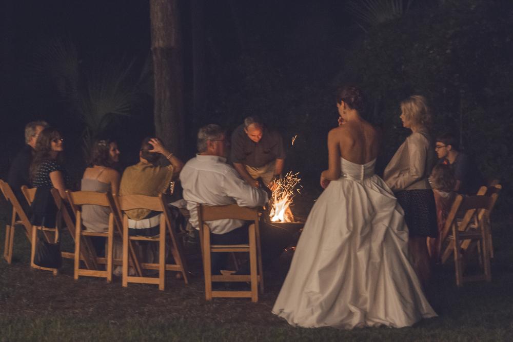cozy bonfire