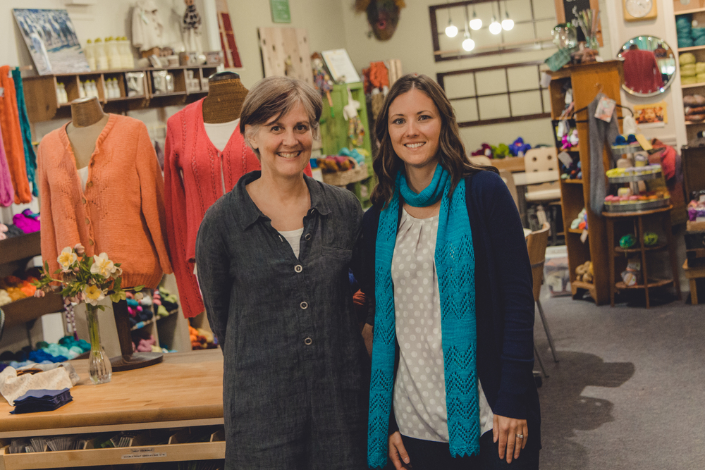 Janet Avila, owner of String Theory Yarn Co, and me in her beautiful shop