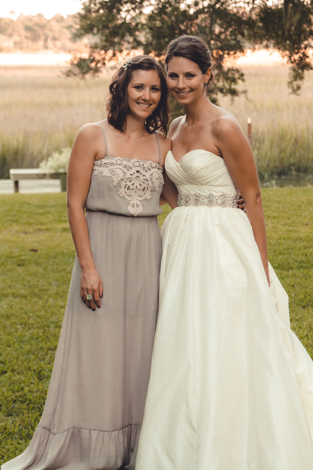 Lizzie and I at her wedding, which she amazingly planned in 4 months, from over 1000 miles away.