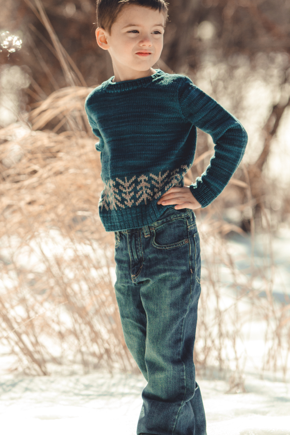 Lodgepole Pullover, in Aspen Sport, Marine and Mushroom colorways