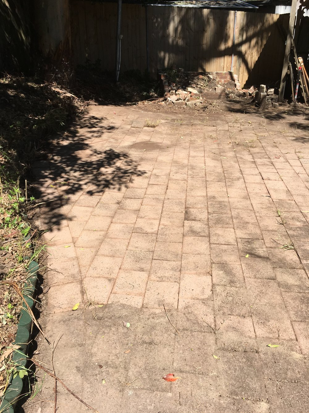 The water-blasted pavers