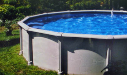 Above-ground pool, Haugh's.