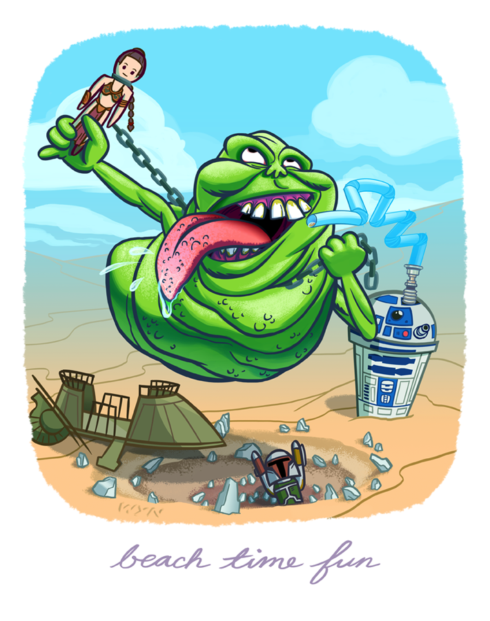 Beach Time Fun with Slimer and his toys