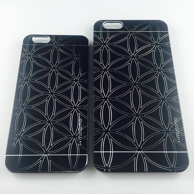 iPhone 6 and 6 Plus Cases with The Flower of Life Design Carved By Digital Carver